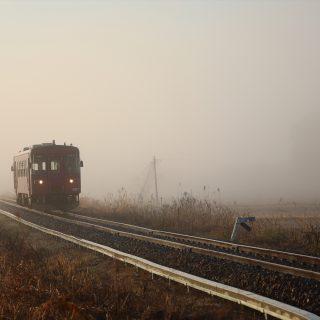 霧の長良川鉄道